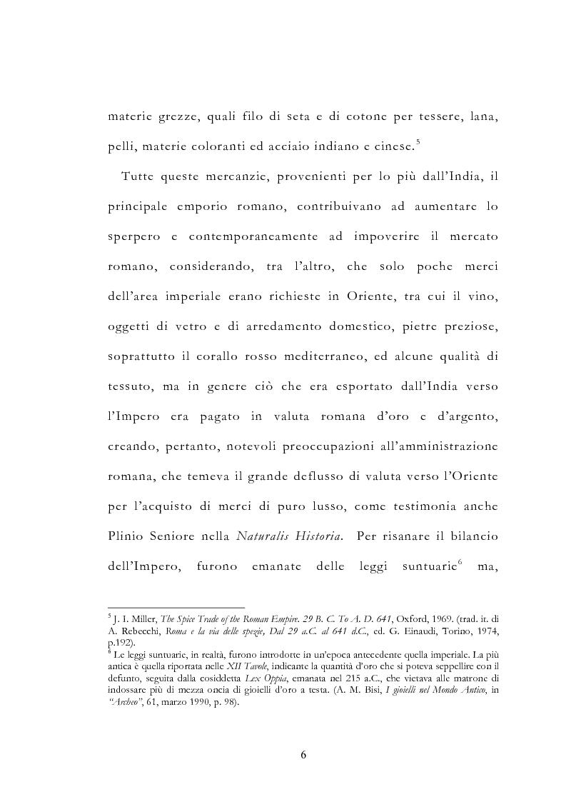 Anteprima della tesi: Le vie delle merci ed i percorsi dell'arte tra l'India e il Meridione d'Italia dall'Antichità al Medioevo. Studio mirato sul gioiello., Pagina 11
