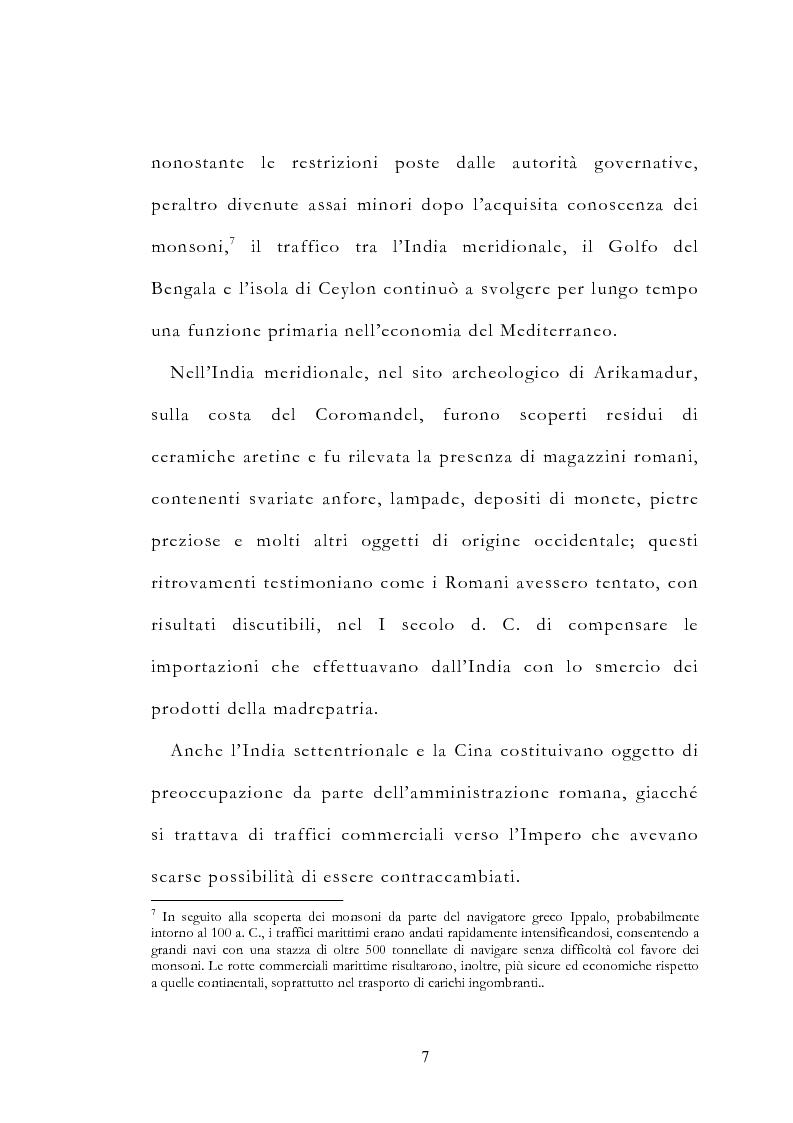 Anteprima della tesi: Le vie delle merci ed i percorsi dell'arte tra l'India e il Meridione d'Italia dall'Antichità al Medioevo. Studio mirato sul gioiello., Pagina 12