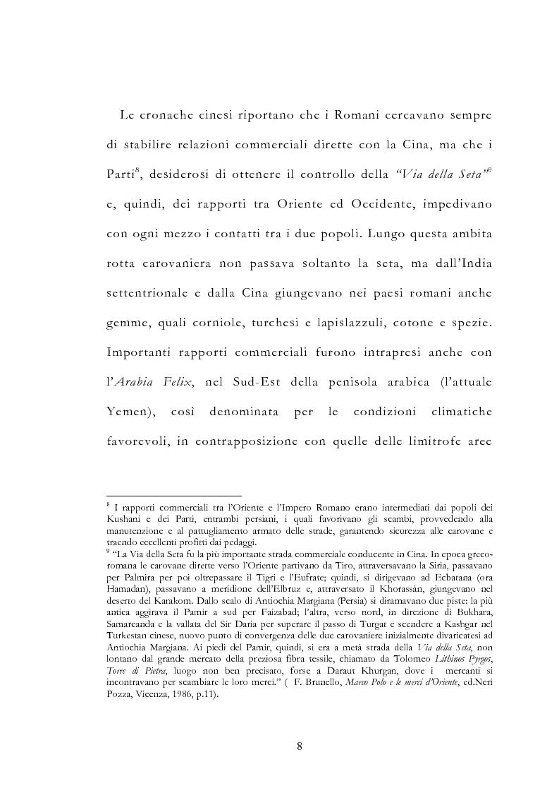 Anteprima della tesi: Le vie delle merci ed i percorsi dell'arte tra l'India e il Meridione d'Italia dall'Antichità al Medioevo. Studio mirato sul gioiello., Pagina 13