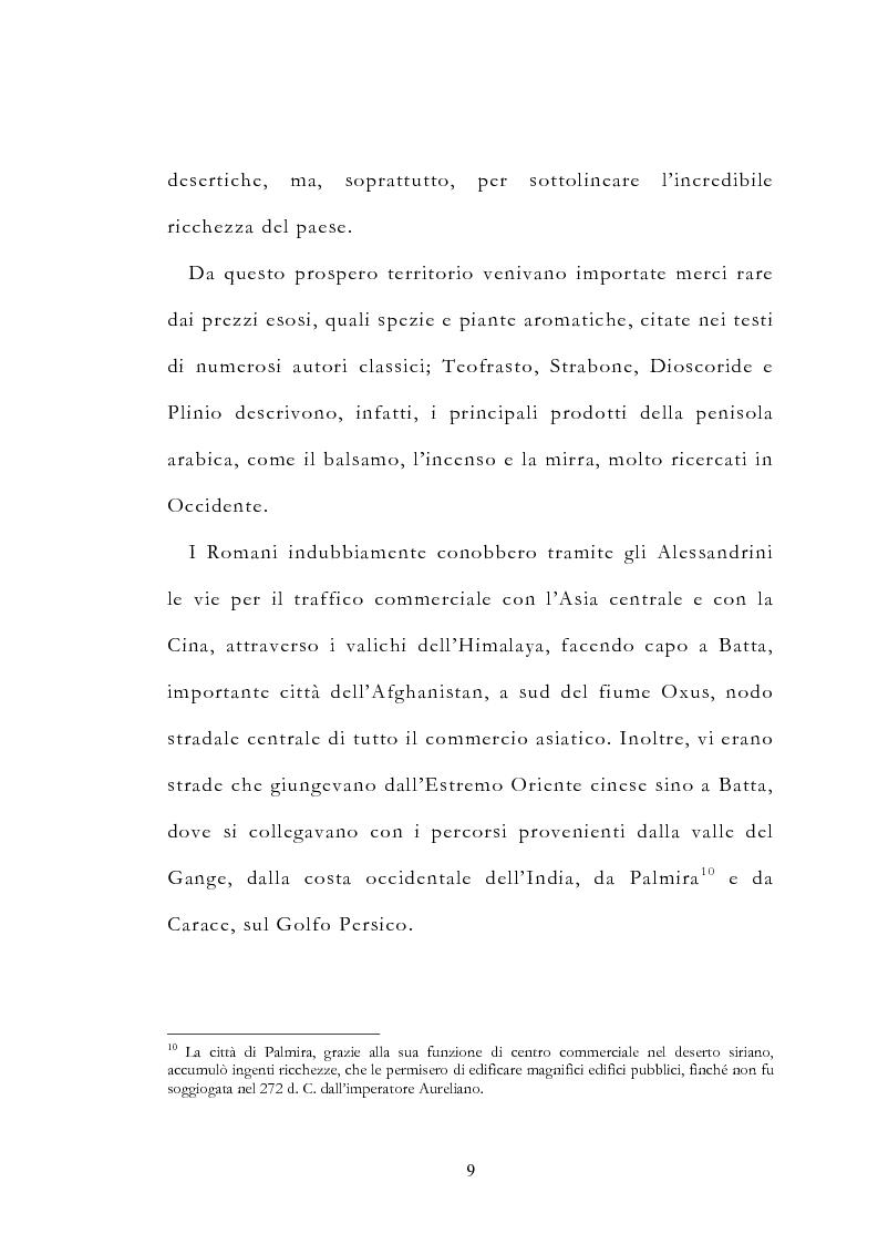 Anteprima della tesi: Le vie delle merci ed i percorsi dell'arte tra l'India e il Meridione d'Italia dall'Antichità al Medioevo. Studio mirato sul gioiello., Pagina 14
