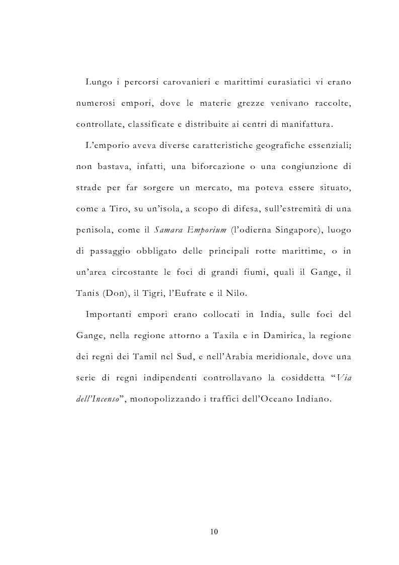 Anteprima della tesi: Le vie delle merci ed i percorsi dell'arte tra l'India e il Meridione d'Italia dall'Antichità al Medioevo. Studio mirato sul gioiello., Pagina 15