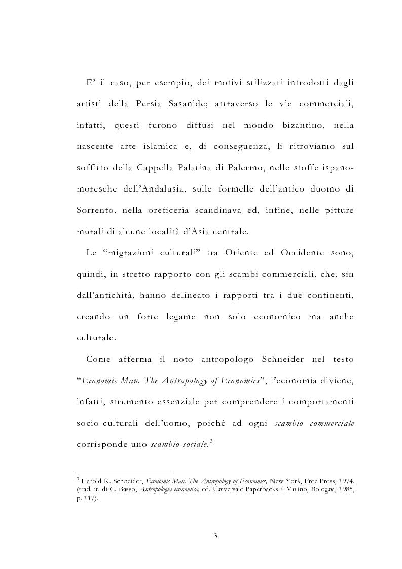 Anteprima della tesi: Le vie delle merci ed i percorsi dell'arte tra l'India e il Meridione d'Italia dall'Antichità al Medioevo. Studio mirato sul gioiello., Pagina 8