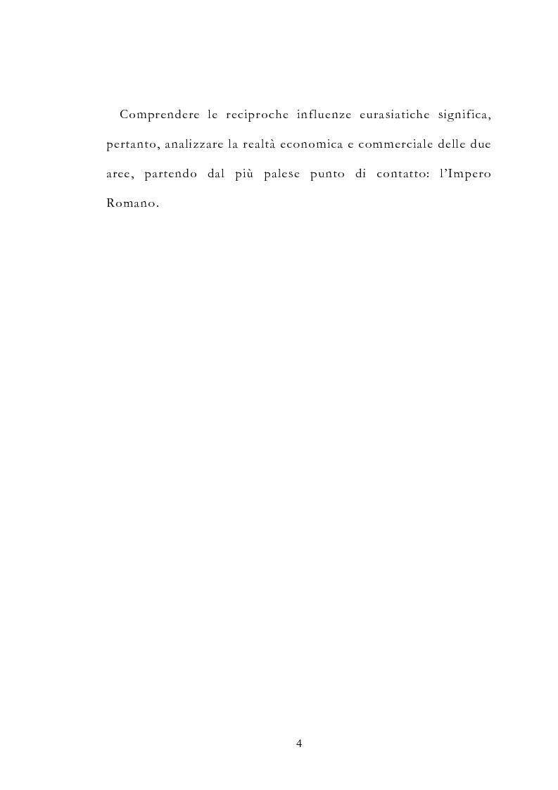 Anteprima della tesi: Le vie delle merci ed i percorsi dell'arte tra l'India e il Meridione d'Italia dall'Antichità al Medioevo. Studio mirato sul gioiello., Pagina 9