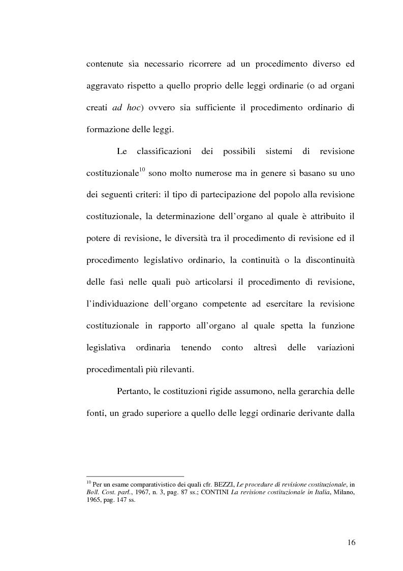 Anteprima della tesi: Il procedimento di revisione costituzionale, Pagina 13