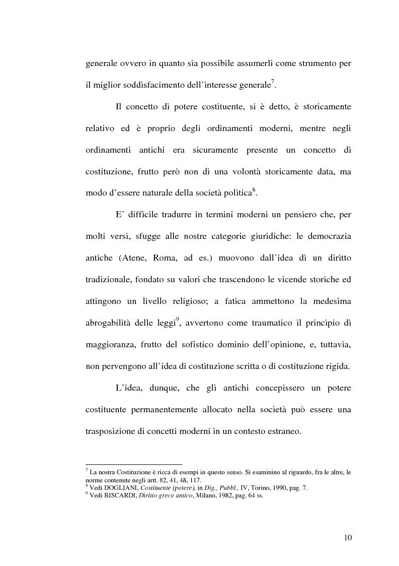 Anteprima della tesi: Il procedimento di revisione costituzionale, Pagina 7