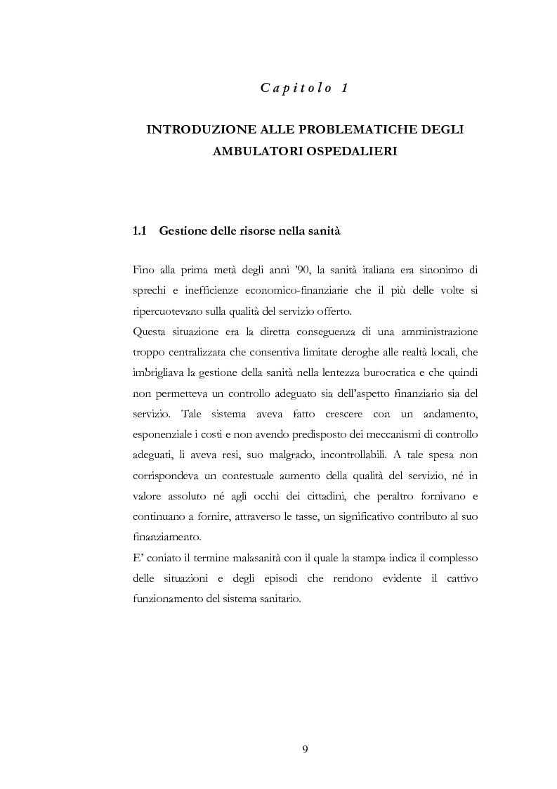 Anteprima della tesi: Modelli dinamici di pianificazione strategica delle risorse negli ambulatori ospedalieri, Pagina 3