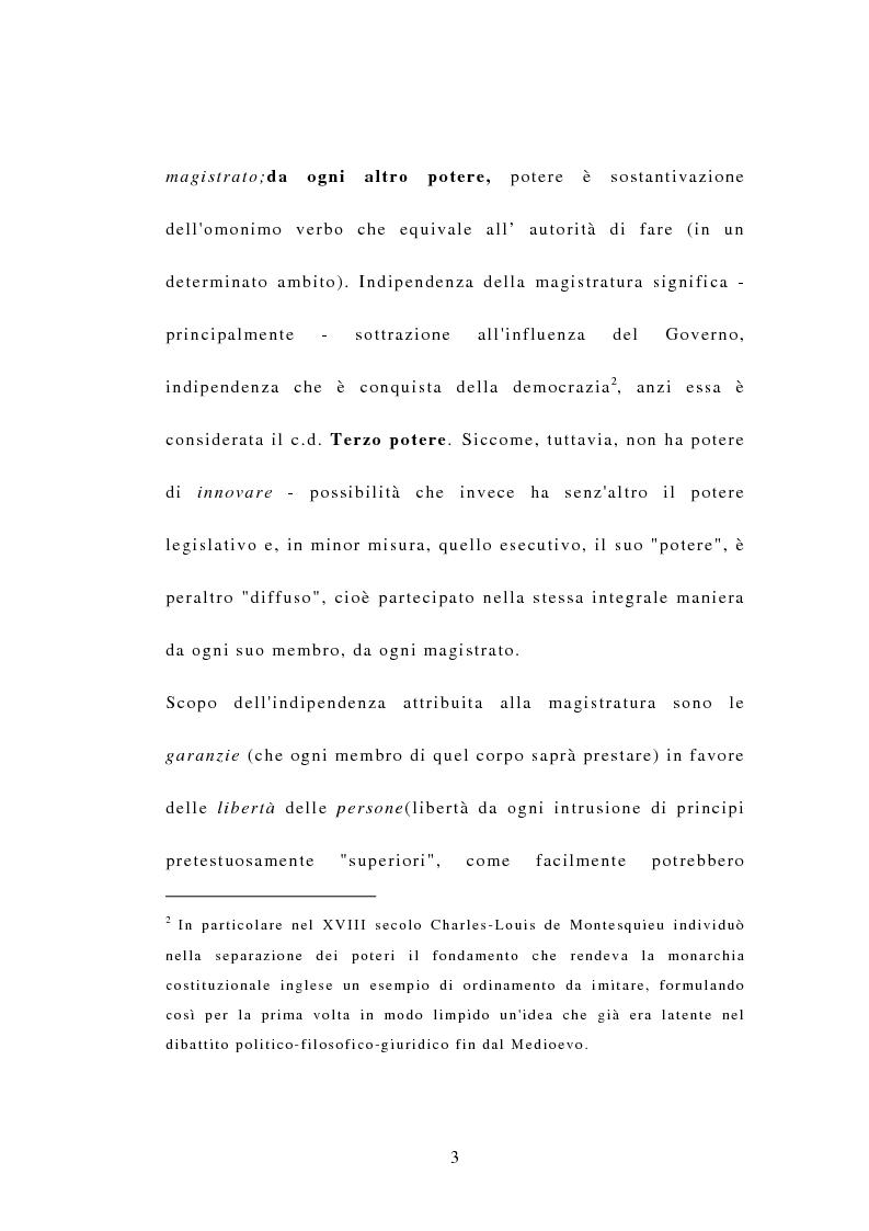 Anteprima della tesi: Indipendenza della magistratura e giudice naturale, Pagina 3