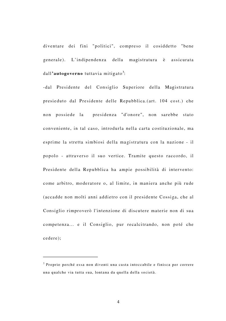 Anteprima della tesi: Indipendenza della magistratura e giudice naturale, Pagina 4