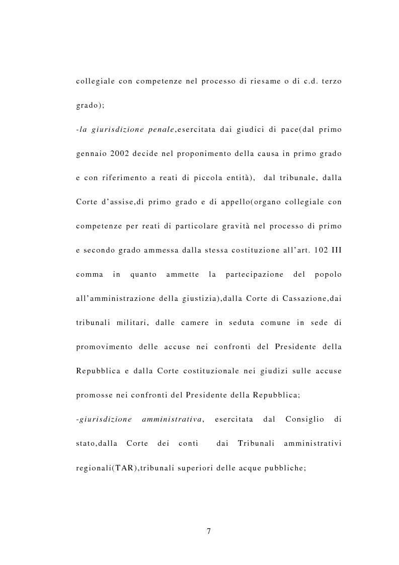 Anteprima della tesi: Indipendenza della magistratura e giudice naturale, Pagina 7