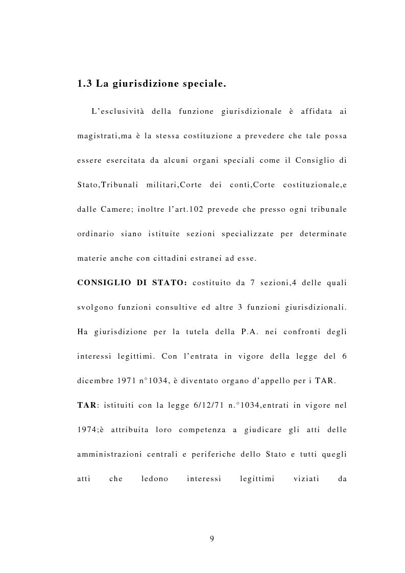 Anteprima della tesi: Indipendenza della magistratura e giudice naturale, Pagina 9