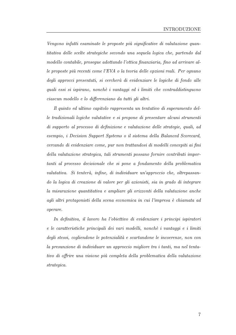 Anteprima della tesi: I metodi di valutazione delle strategie: un'analisi comparata, Pagina 3