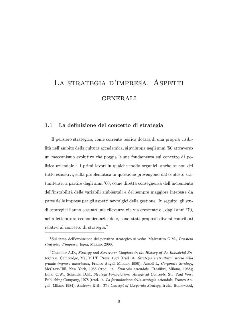 Anteprima della tesi: I metodi di valutazione delle strategie: un'analisi comparata, Pagina 4