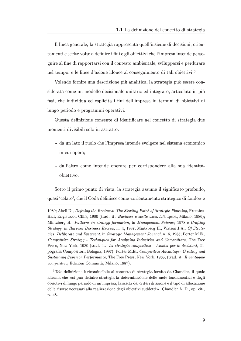 Anteprima della tesi: I metodi di valutazione delle strategie: un'analisi comparata, Pagina 5