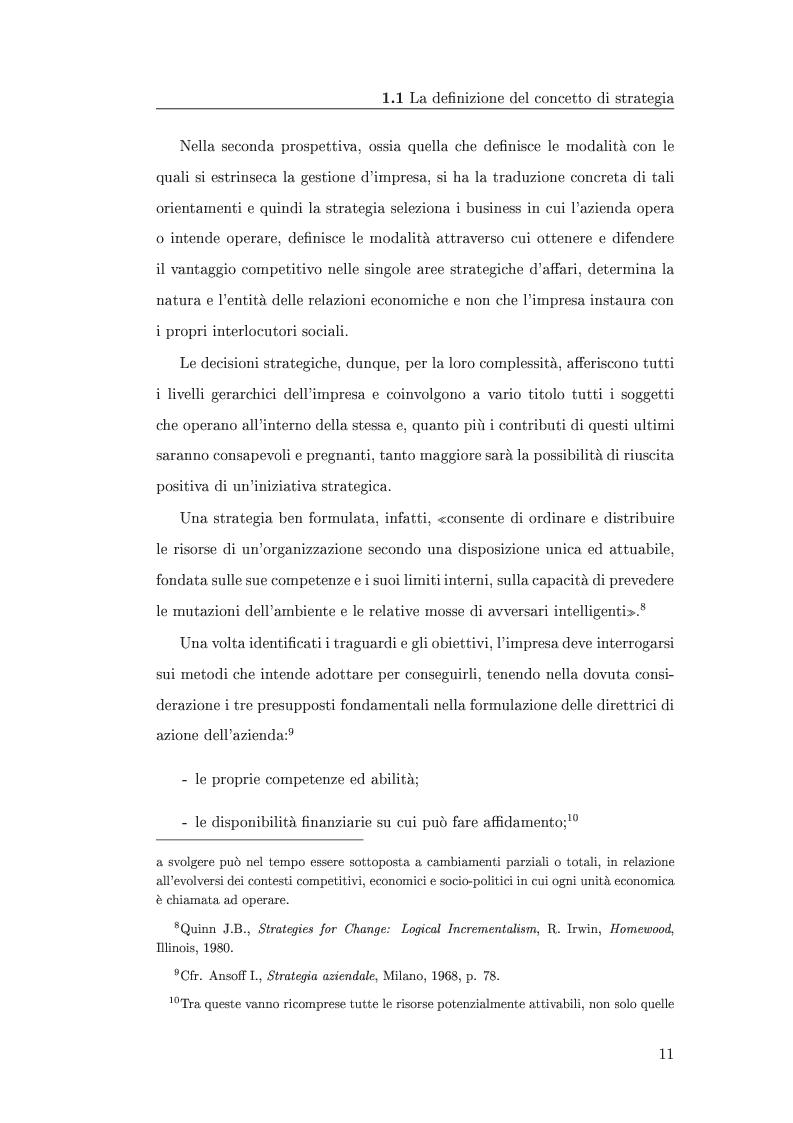 Anteprima della tesi: I metodi di valutazione delle strategie: un'analisi comparata, Pagina 7