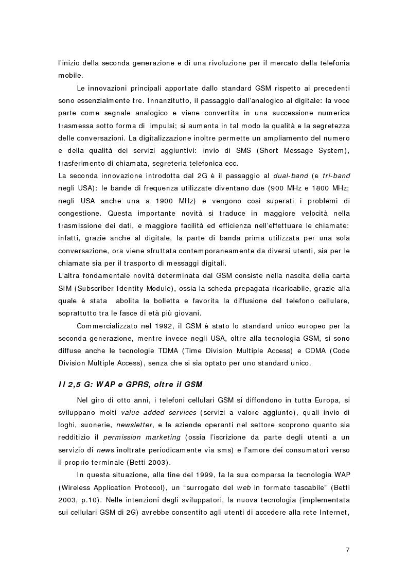 Anteprima della tesi: La telefonia mobile di terza generazione: le aste per le licenze UMTS in Europa e in Italia, Pagina 4