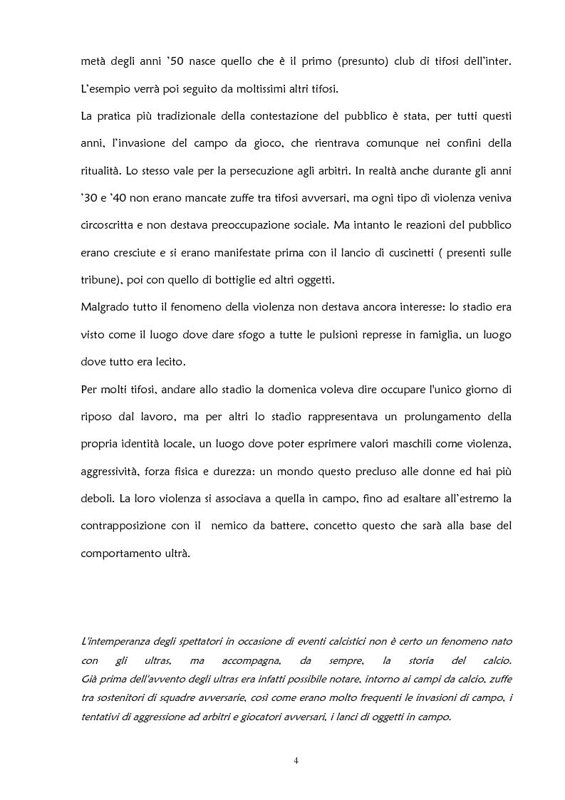 Anteprima della tesi: La violenza negli stadi: aspetti psicosociali e preventivi, Pagina 10