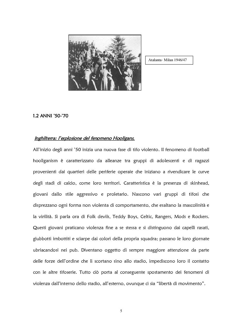Anteprima della tesi: La violenza negli stadi: aspetti psicosociali e preventivi, Pagina 11