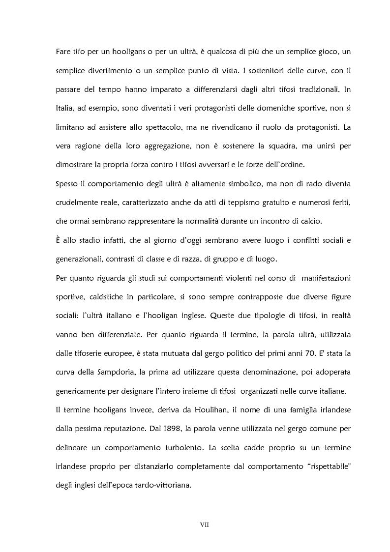 Anteprima della tesi: La violenza negli stadi: aspetti psicosociali e preventivi, Pagina 2