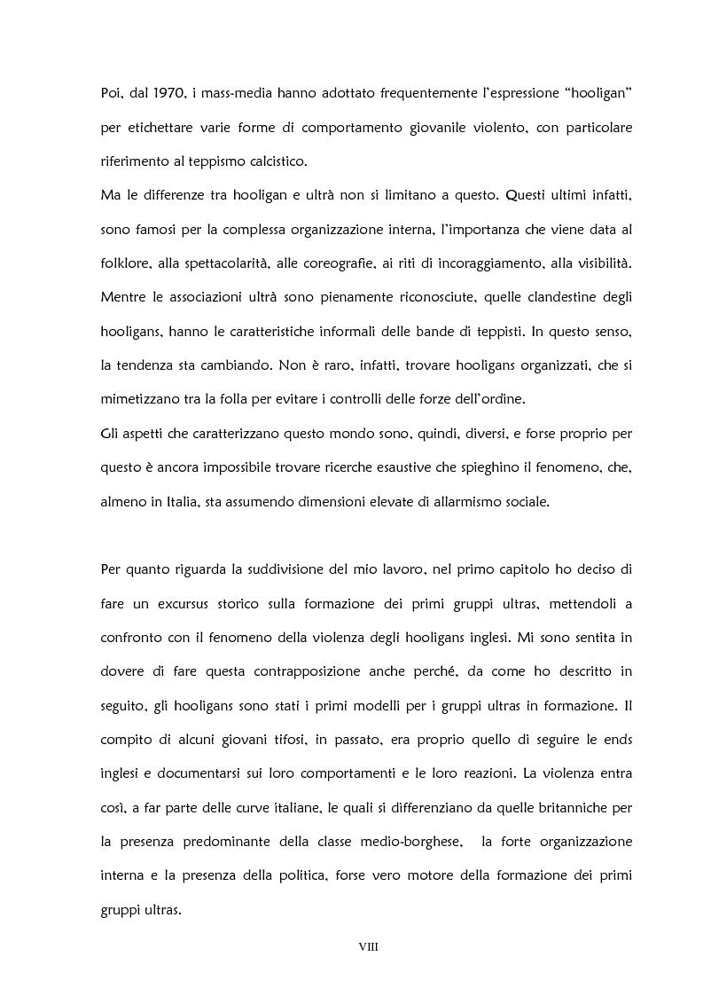 Anteprima della tesi: La violenza negli stadi: aspetti psicosociali e preventivi, Pagina 3