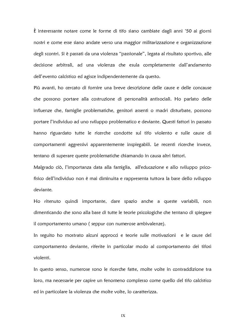 Anteprima della tesi: La violenza negli stadi: aspetti psicosociali e preventivi, Pagina 4