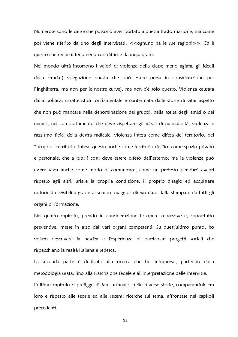 Anteprima della tesi: La violenza negli stadi: aspetti psicosociali e preventivi, Pagina 6