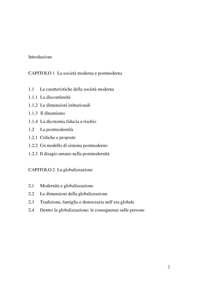 Indice della tesi: Flessibilità e precarietà: storie di lavoro atipico, Pagina 1