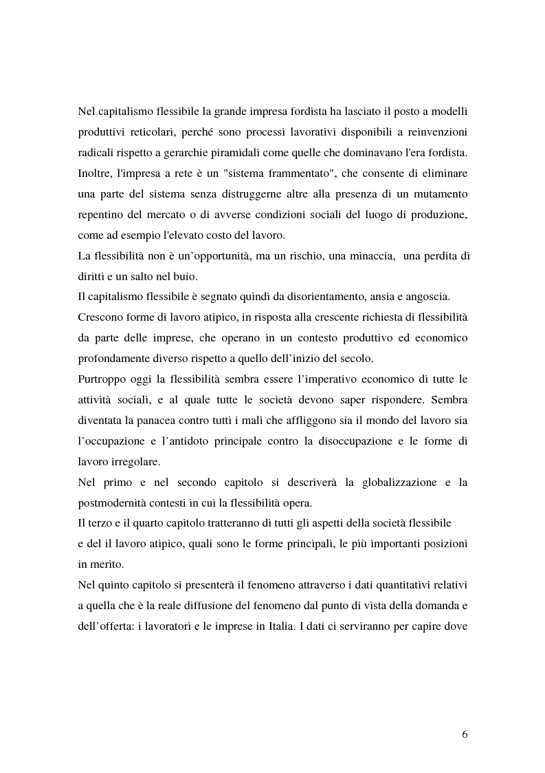 Anteprima della tesi: Flessibilità e precarietà: storie di lavoro atipico, Pagina 2