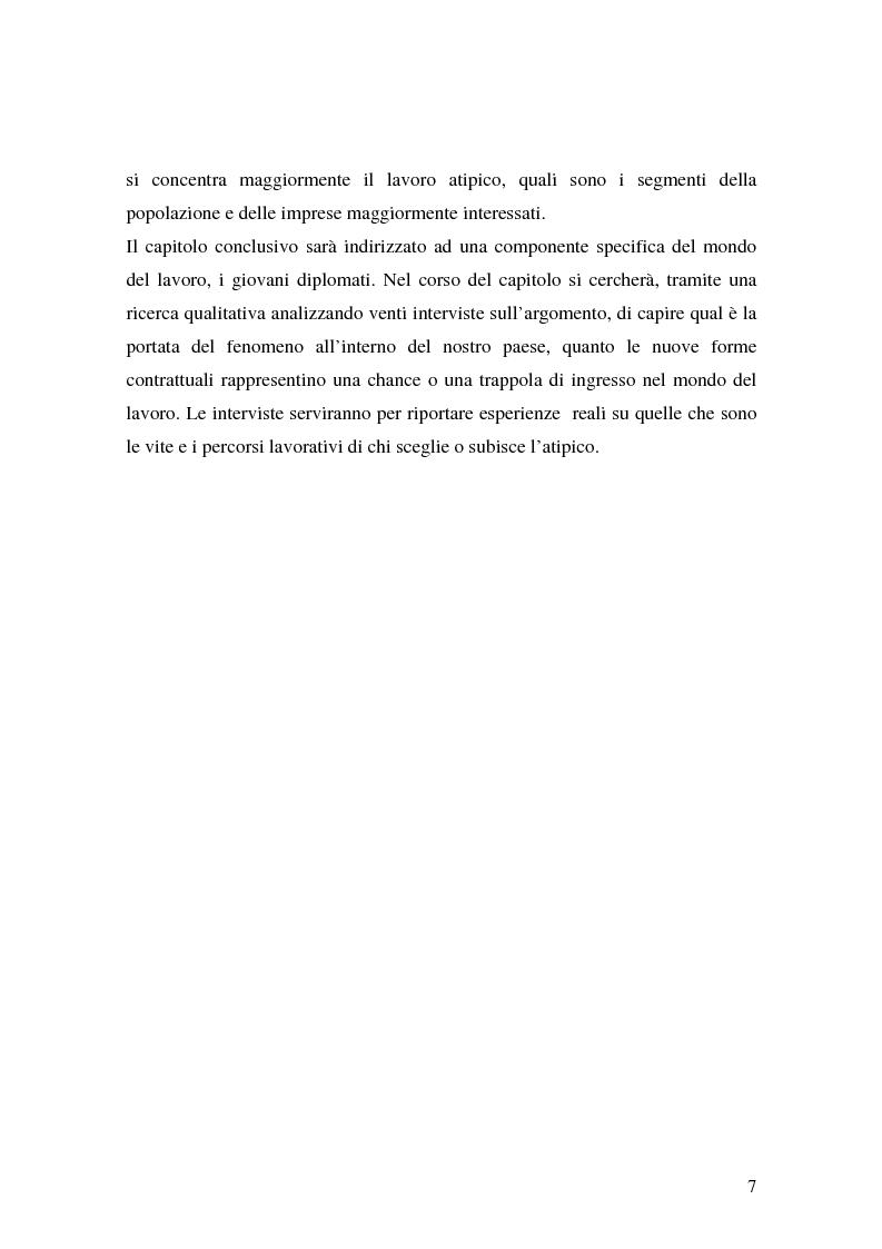 Anteprima della tesi: Flessibilità e precarietà: storie di lavoro atipico, Pagina 3