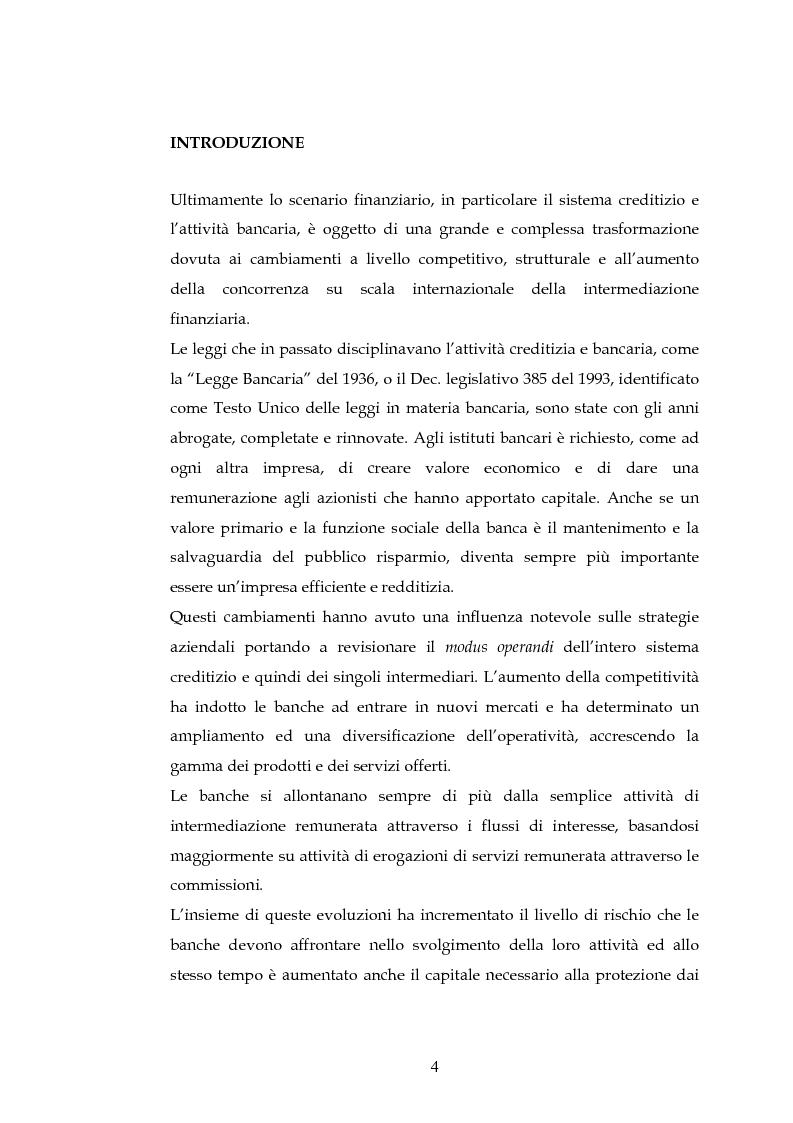 Anteprima della tesi: Tecniche per la misurazione del Rischio negli istituti Finanziari: il caso della BNL, Pagina 1