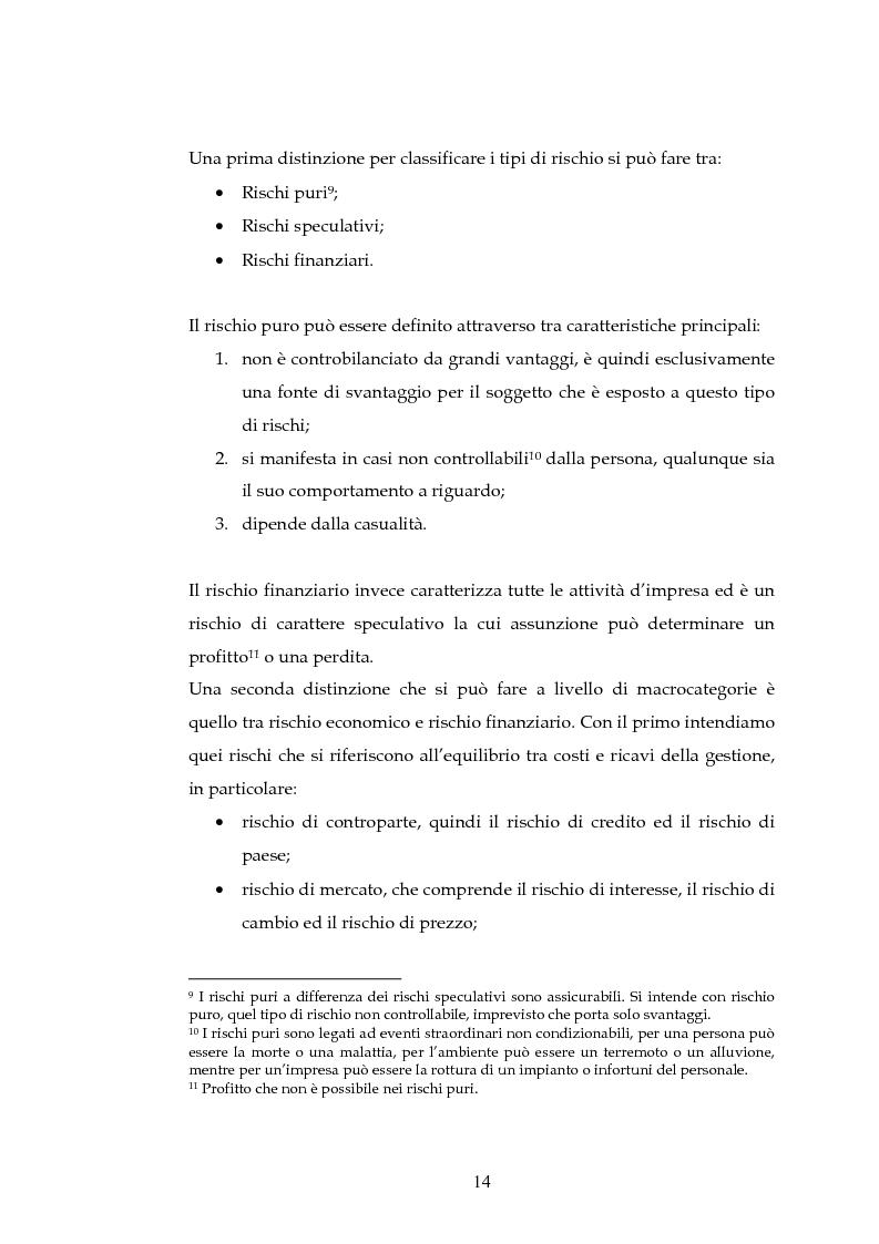 Anteprima della tesi: Tecniche per la misurazione del Rischio negli istituti Finanziari: il caso della BNL, Pagina 11