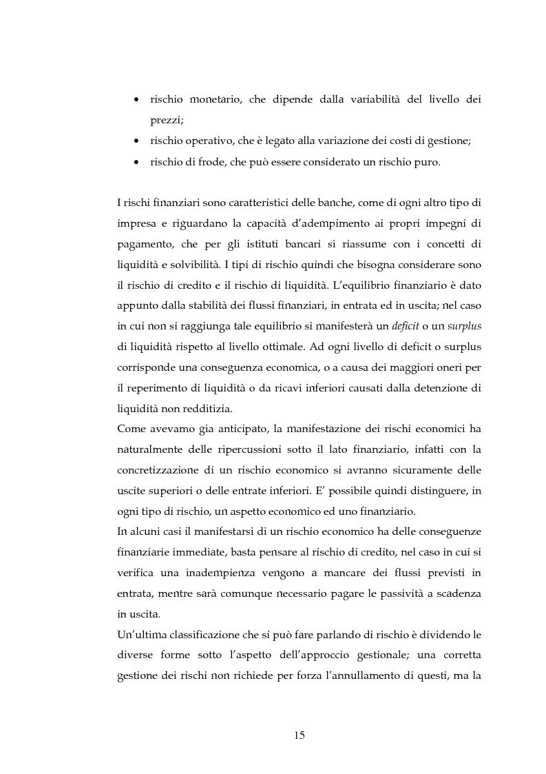 Anteprima della tesi: Tecniche per la misurazione del Rischio negli istituti Finanziari: il caso della BNL, Pagina 12
