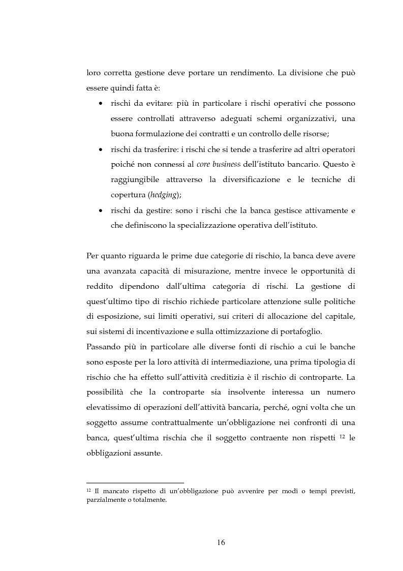 Anteprima della tesi: Tecniche per la misurazione del Rischio negli istituti Finanziari: il caso della BNL, Pagina 13