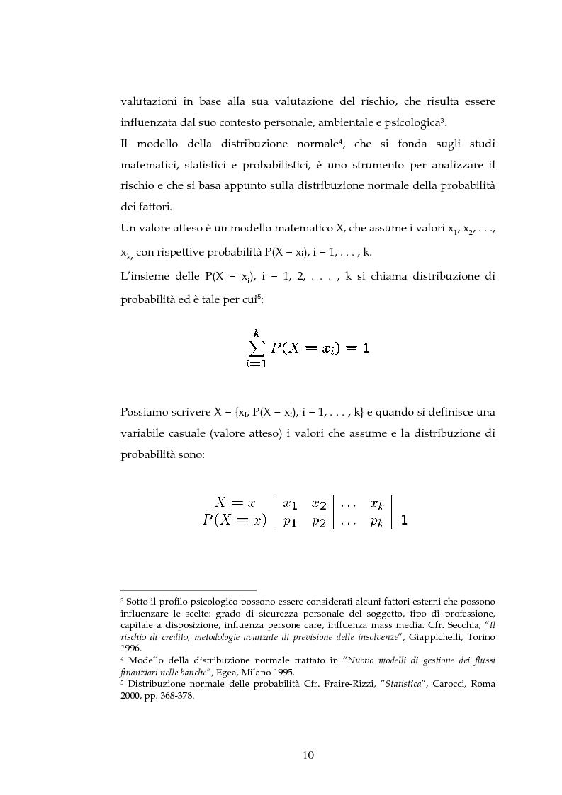 Anteprima della tesi: Tecniche per la misurazione del Rischio negli istituti Finanziari: il caso della BNL, Pagina 7