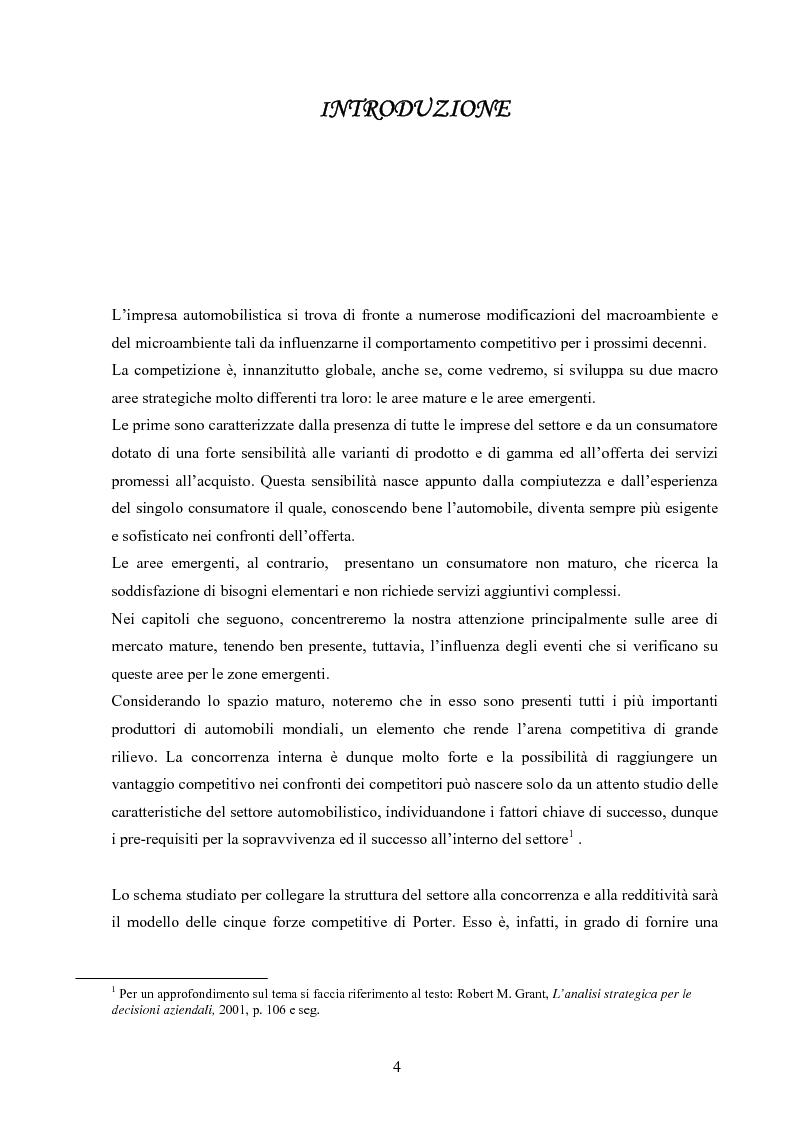 Anteprima della tesi: I modelli competitivi del settore automobilistico, Pagina 1