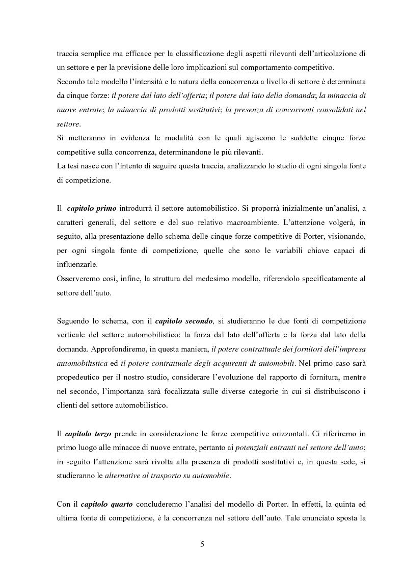 Anteprima della tesi: I modelli competitivi del settore automobilistico, Pagina 2