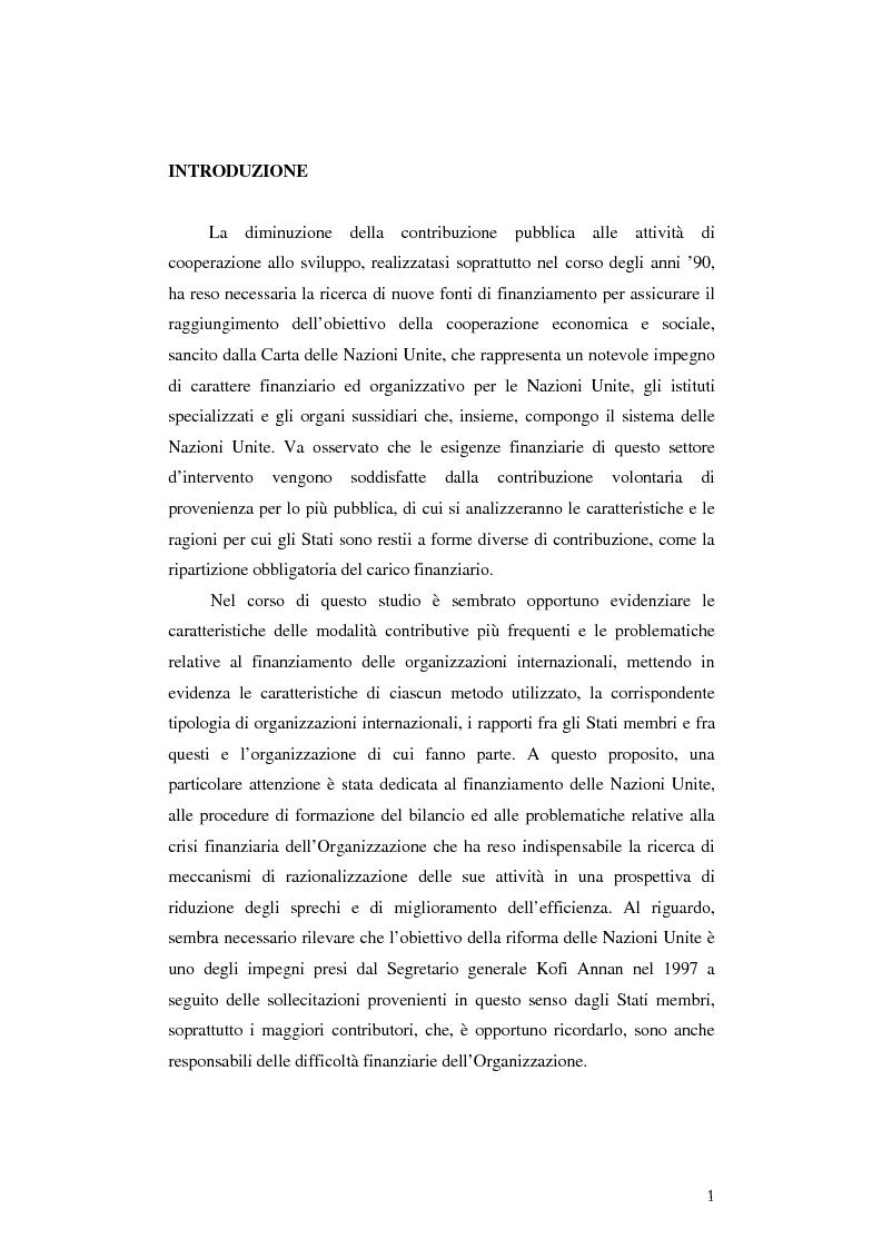Anteprima della tesi: Il finanziamento dell'Unicef: il ruolo del settore privato, Pagina 1