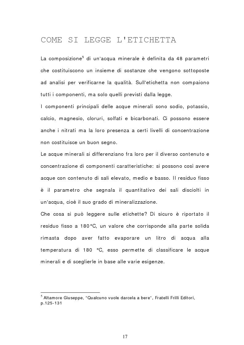 Anteprima della tesi: Analisi semiotica degli spot delle acque minerali, Pagina 14