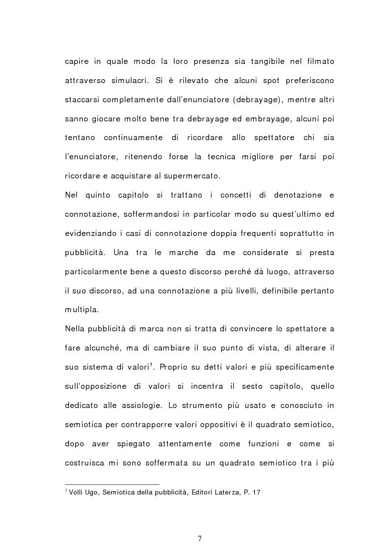 Anteprima della tesi: Analisi semiotica degli spot delle acque minerali, Pagina 4