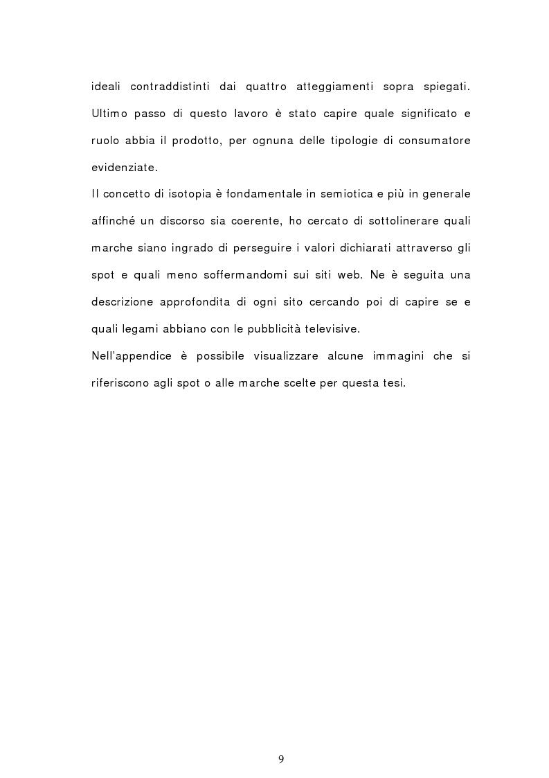 Anteprima della tesi: Analisi semiotica degli spot delle acque minerali, Pagina 6