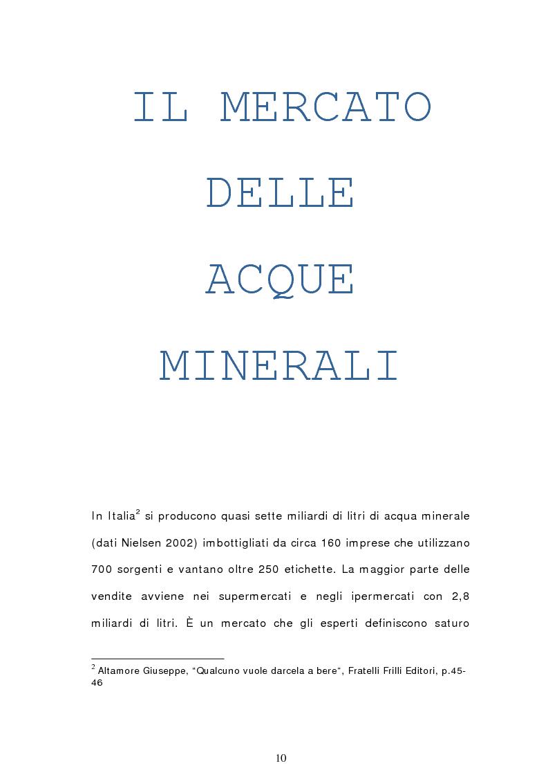 Anteprima della tesi: Analisi semiotica degli spot delle acque minerali, Pagina 7