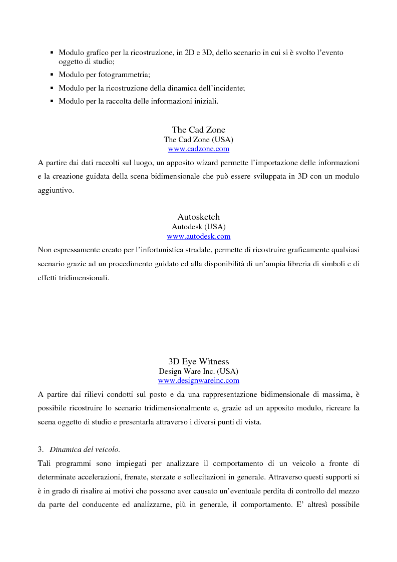 Anteprima della tesi: Metodi di simulazione per la ricostruzione degli incidenti stradali, Pagina 10