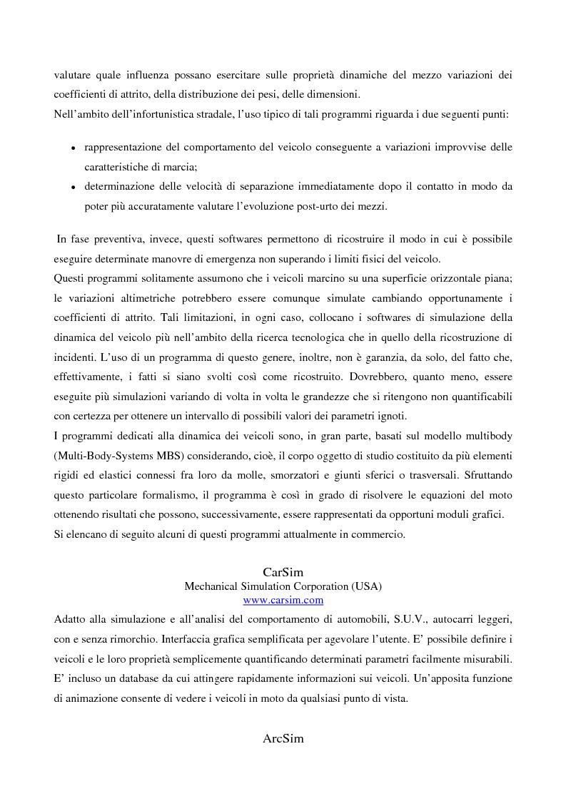 Anteprima della tesi: Metodi di simulazione per la ricostruzione degli incidenti stradali, Pagina 11