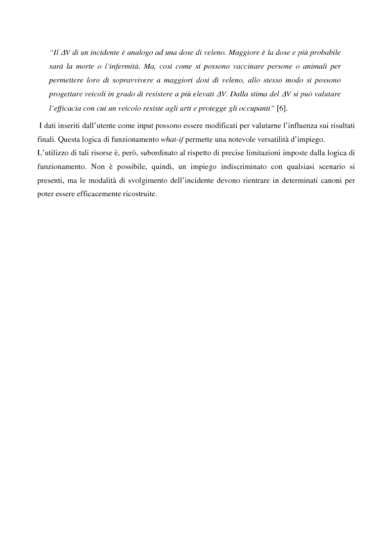 Anteprima della tesi: Metodi di simulazione per la ricostruzione degli incidenti stradali, Pagina 13