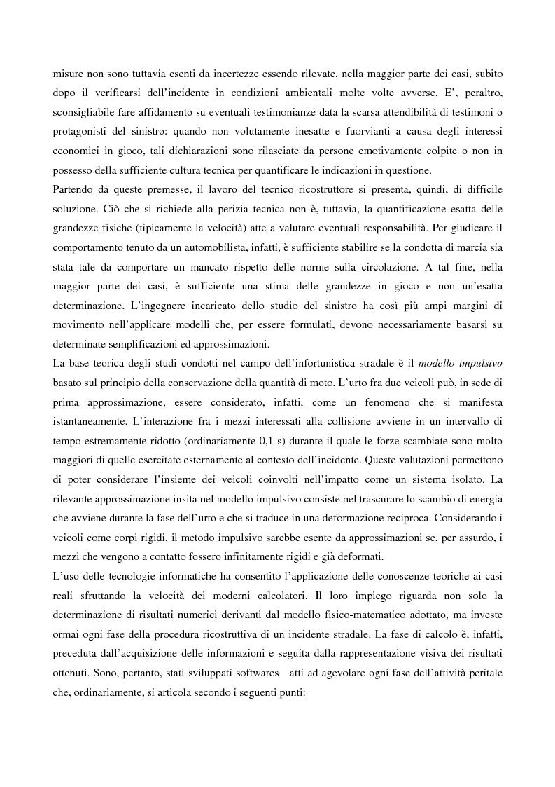 Anteprima della tesi: Metodi di simulazione per la ricostruzione degli incidenti stradali, Pagina 6