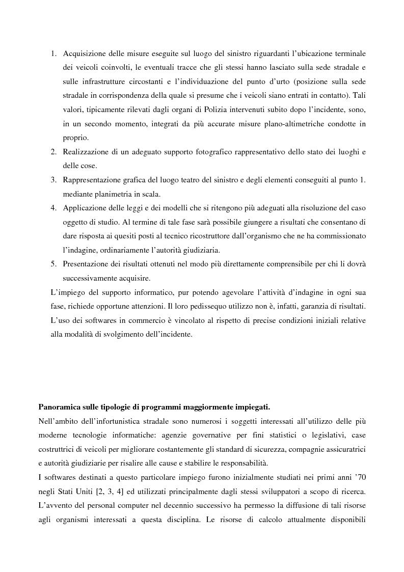 Anteprima della tesi: Metodi di simulazione per la ricostruzione degli incidenti stradali, Pagina 7