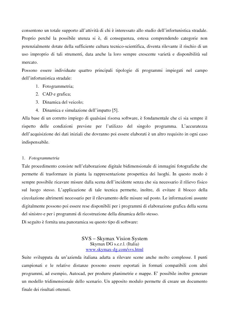 Anteprima della tesi: Metodi di simulazione per la ricostruzione degli incidenti stradali, Pagina 8