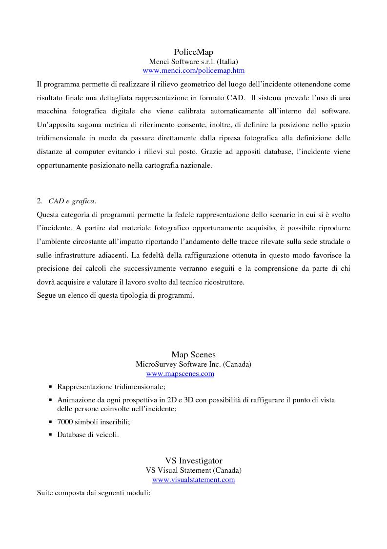 Anteprima della tesi: Metodi di simulazione per la ricostruzione degli incidenti stradali, Pagina 9