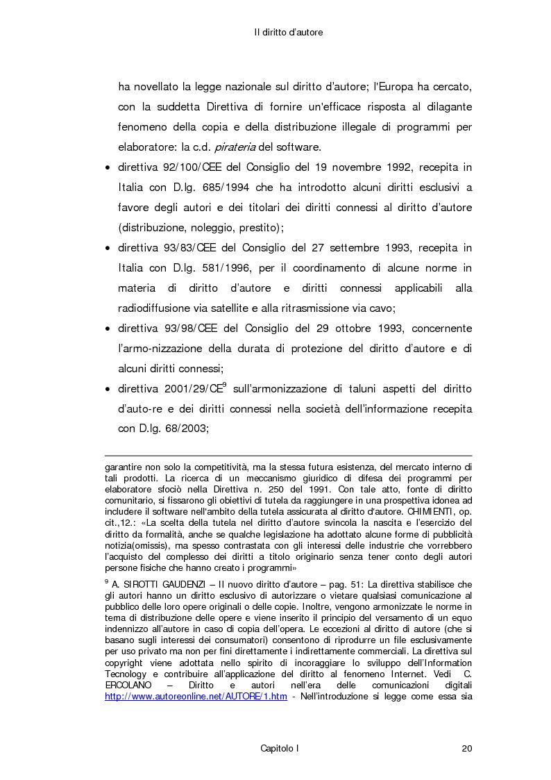 Anteprima della tesi: Il diritto d'autore in Internet, Pagina 11