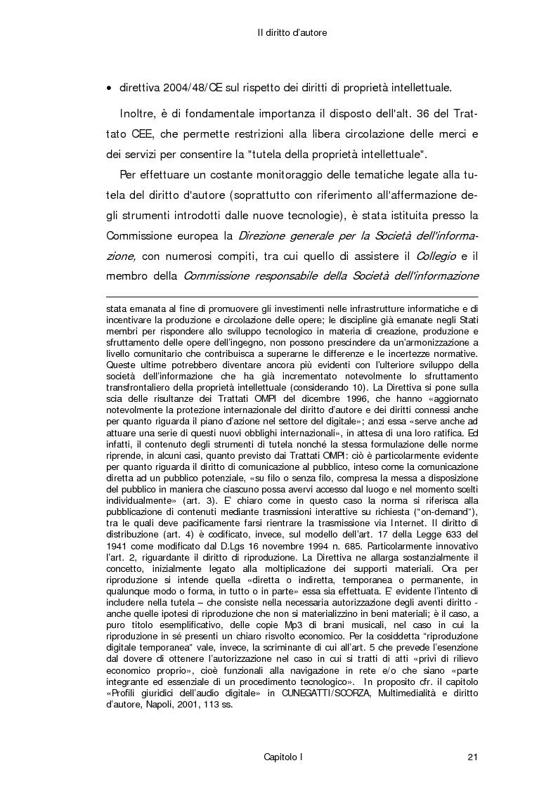 Anteprima della tesi: Il diritto d'autore in Internet, Pagina 12