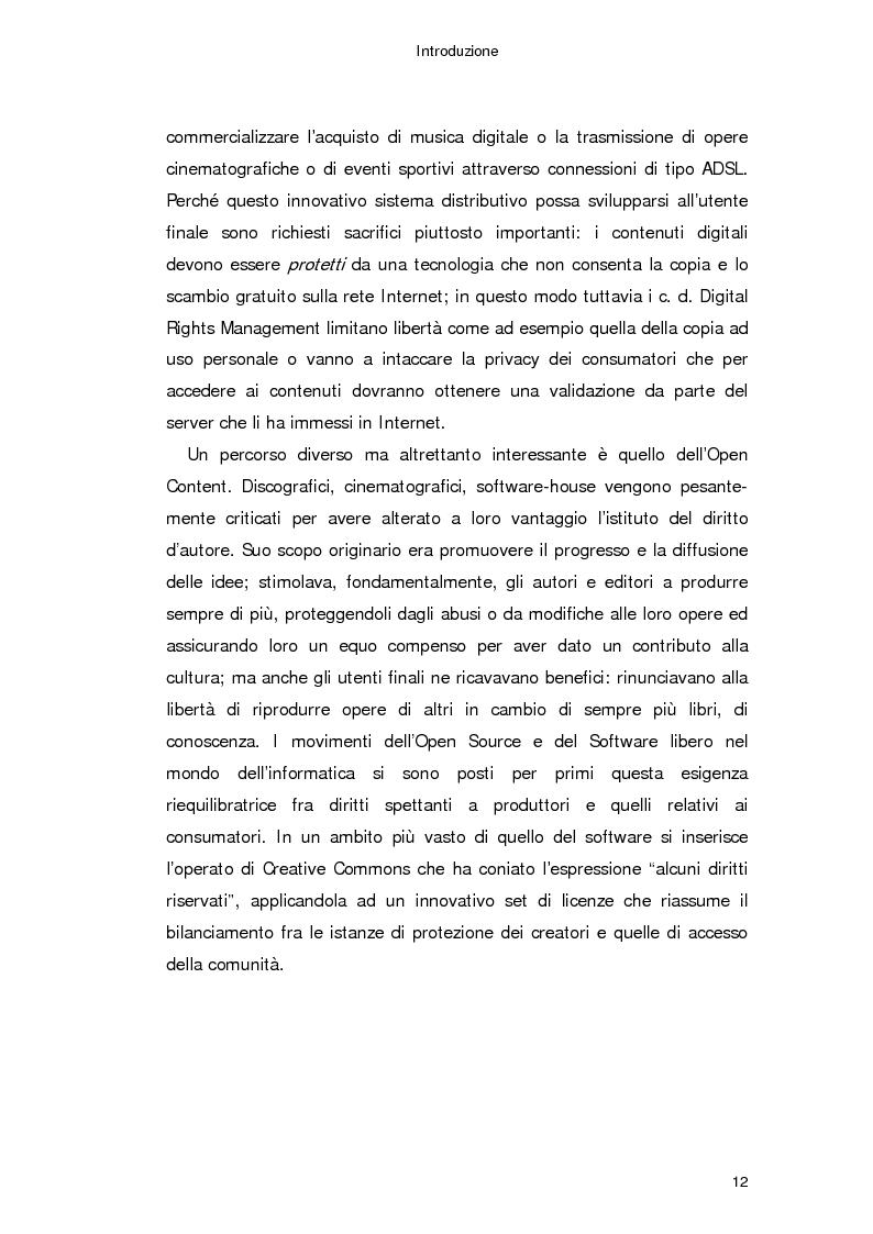 Anteprima della tesi: Il diritto d'autore in Internet, Pagina 3